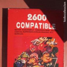 Videojuegos y Consolas: 2600 COMPATIBLE , JUEGO PARA CONSOLA ATARI MOTOR RACE , MISSILE SNOOPY , CARNIVAL ETC. Lote 199773192