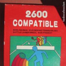 Videojuegos y Consolas: 2600 COMPATIBLE , JUEGO PARA CONSOLA ATARI BOWLING/SKAI , DIVE/BOXING , TENNIS/ARLSEE ETC . Lote 199773572