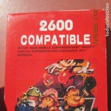 Videojuegos y Consolas: 2600 COMPATIBLE , JUEGO PARA CONSOLA ATARI MOTOR RACE , MISSILE SNOOPY , CARNIVAL ETC. Lote 199773670