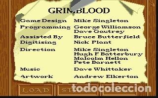 Videojuegos y Consolas: Grimblood [Maelstrom Games] 1990 [Virgin / 16blitz] [ATARI ST] - Foto 4 - 41470914