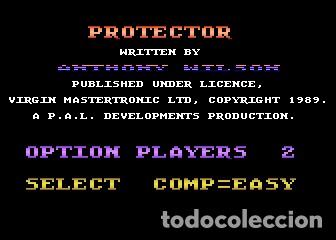 Videojuegos y Consolas: Protector [PAL Developments] 1989 Virgin Mastertronic Plus [ATARI 600 / 800 / XL / XE] - Foto 3 - 99304939