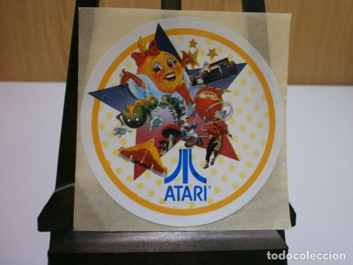 PEGATINA ORIGINAL AÑOS 80 ATARI (Juguetes - Videojuegos y Consolas - Atari)
