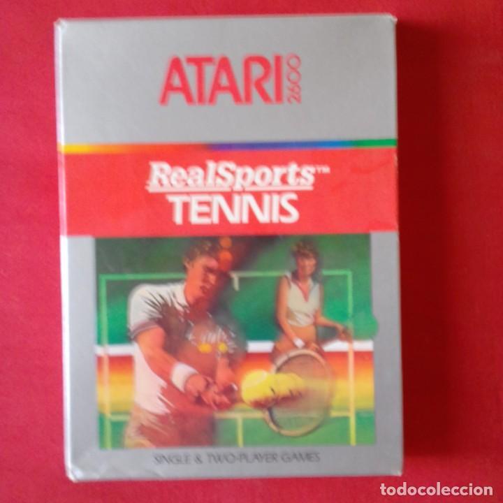 ATARI 2600/ CX2680 REALSPORTS TM TENNIS. SINGLE & TWO PLAYER GAMES. COMPLETO (Juguetes - Videojuegos y Consolas - Atari)