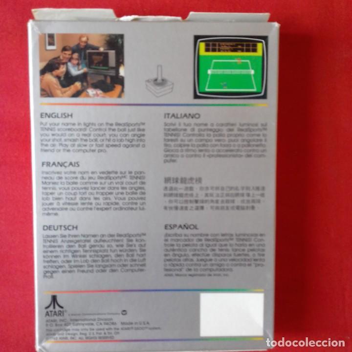 Videojuegos y Consolas: ATARI 2600/ CX2680 REALSPORTS TM TENNIS. SINGLE & TWO PLAYER GAMES. COMPLETO - Foto 2 - 203029746