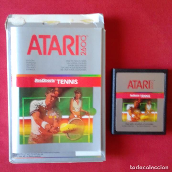 Videojuegos y Consolas: ATARI 2600/ CX2680 REALSPORTS TM TENNIS. SINGLE & TWO PLAYER GAMES. COMPLETO - Foto 3 - 203029746