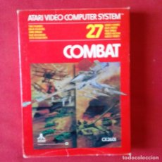 Videojuegos y Consolas: ATARI CX2601 COMBAT TWO PLAYERS 27 VIDEO GAMES. COMPLETO. Lote 203031107