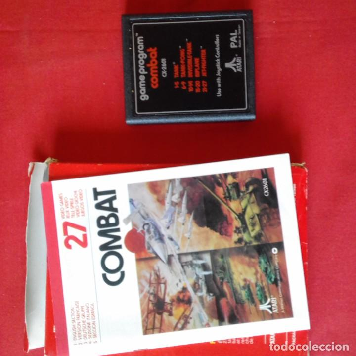 Videojuegos y Consolas: ATARI CX2601 COMBAT TWO PLAYERS 27 VIDEO GAMES. COMPLETO - Foto 3 - 203031107