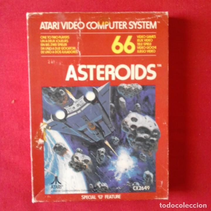 ATARI 2600/ CX2649 ASTEROIDS TM 66 VIDEO GAME. COMPLETO (Juguetes - Videojuegos y Consolas - Atari)