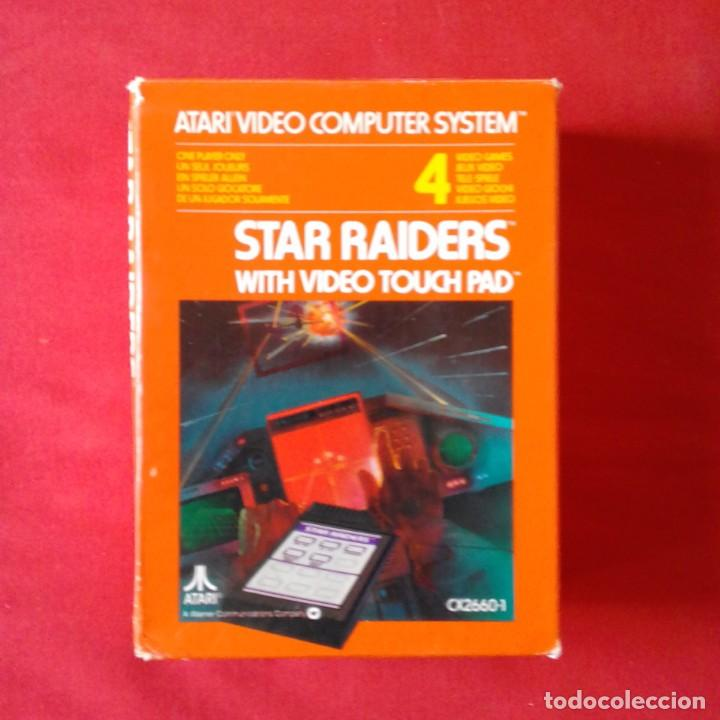 ATARI 2600/ CX2660-1 STAR RAIDERS WITH VIDEO TOUCH PAD. ONE PLAYER ONLY 4 VIDEO GAMES. COMPLETO (Juguetes - Videojuegos y Consolas - Atari)