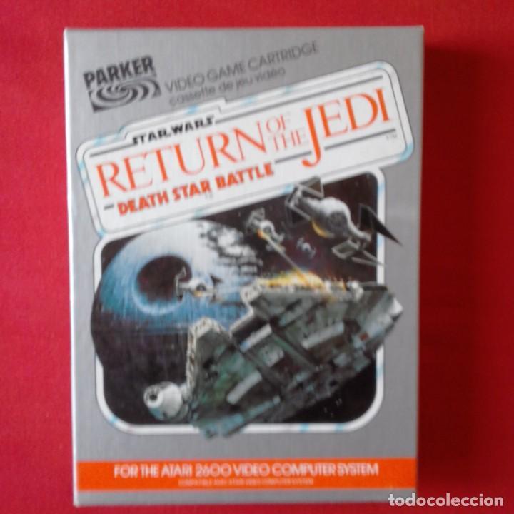 ATARI 2600/PARKER 931513 STAR WARS RETURN OF THE JEDI DEATH STAR BATTLE. RETORNO JEDI COMPLETO (Juguetes - Videojuegos y Consolas - Atari)