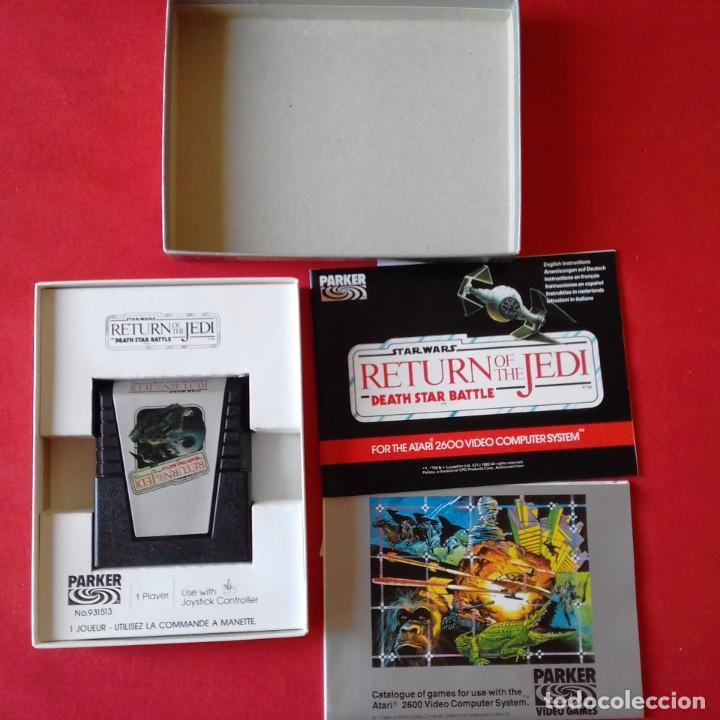 Videojuegos y Consolas: ATARI 2600/PARKER 931513 STAR WARS RETURN OF THE JEDI DEATH STAR BATTLE. RETORNO JEDI COMPLETO - Foto 2 - 203034528