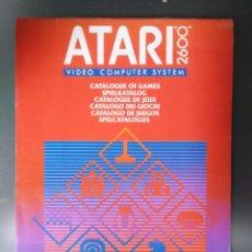 Videojuegos y Consolas: CATÁLOGO ATARI 2600. Lote 203442826
