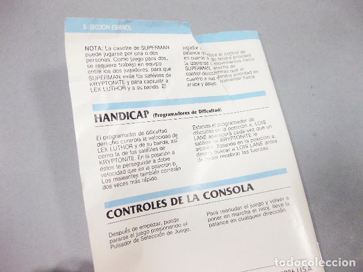 Videojuegos y Consolas: JUEGO ATARI DE SUPERMAN CON INSTRUCCIONES - CX2631 - Foto 4 - 205875252