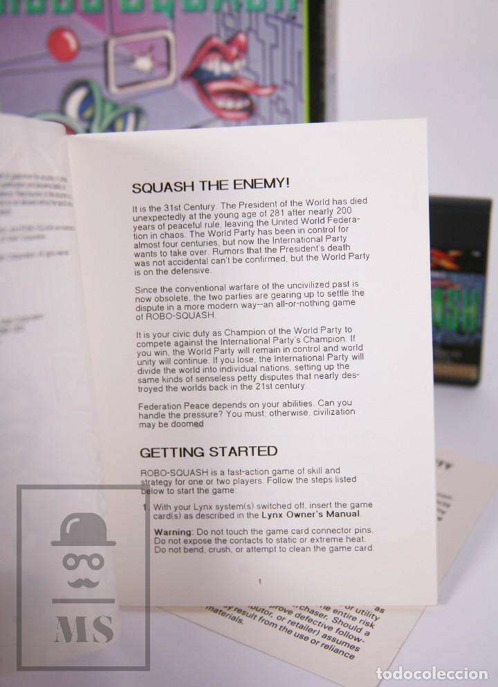 Videojuegos y Consolas: Videojuego / Juego para Consola / Videoconsola Lynx / Atari - Robo-Squash - Atari, 1990 - Foto 4 - 206961325