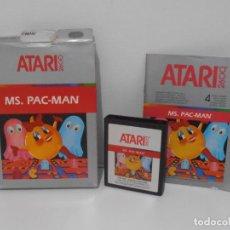 Videojuegos y Consolas: JUEGO ATARI MS PACMAN, COMPLETO CAJA EN INSTRUCCIONES. Lote 213816473