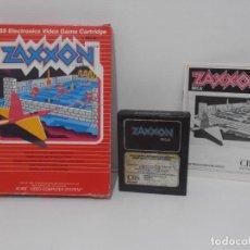 Videojuegos y Consolas: JUEGO ATARI ZAXXON, COMPLETO CAJA EN INSTRUCCIONES, CBS SEGA. Lote 213816591
