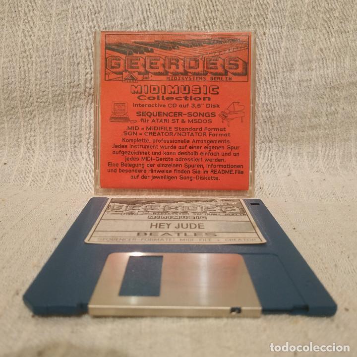"""THE BEATLES - HEY JUDE - GEERDES MIDISYSTEMS BERLIN, 1989. DISKETTE 3,5"""". ATARI & MS-DOS BUEN ESTADO (Juguetes - Videojuegos y Consolas - Atari)"""