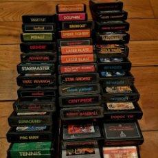 Videojuegos y Consolas: LOTE COMPLETO 40 JUEGOS ATARI CLÁSICOS. Lote 218484558