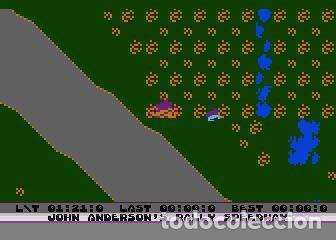 Videojuegos y Consolas: John Anderson´s Rally Speedway [Adventure International] [1983] ATARI 400 800 XE XL 8bits Cartridge - Foto 12 - 28389408