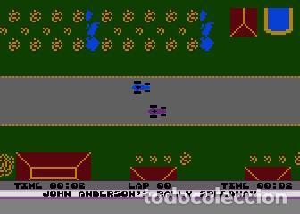 Videojuegos y Consolas: John Anderson´s Rally Speedway [Adventure International] [1983] ATARI 400 800 XE XL 8bits Cartridge - Foto 9 - 28389408