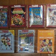 Videojuegos y Consolas: LOTE 7 JUEGOS PRECINTADOS ATARI 2600 Y 7800. Lote 219080128