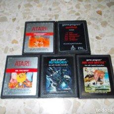 Videojuegos y Consolas: JUEGOS ATARI 2600 . 5 CARTUCHOS 9 JUEGOS. Lote 186343703