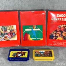 Videojuegos y Consolas: LOTE X 5 VIDEO JUEGOS - ATARI 2600 Y FAMICOM COMPATIBLES - SIN USAR. Lote 222527368