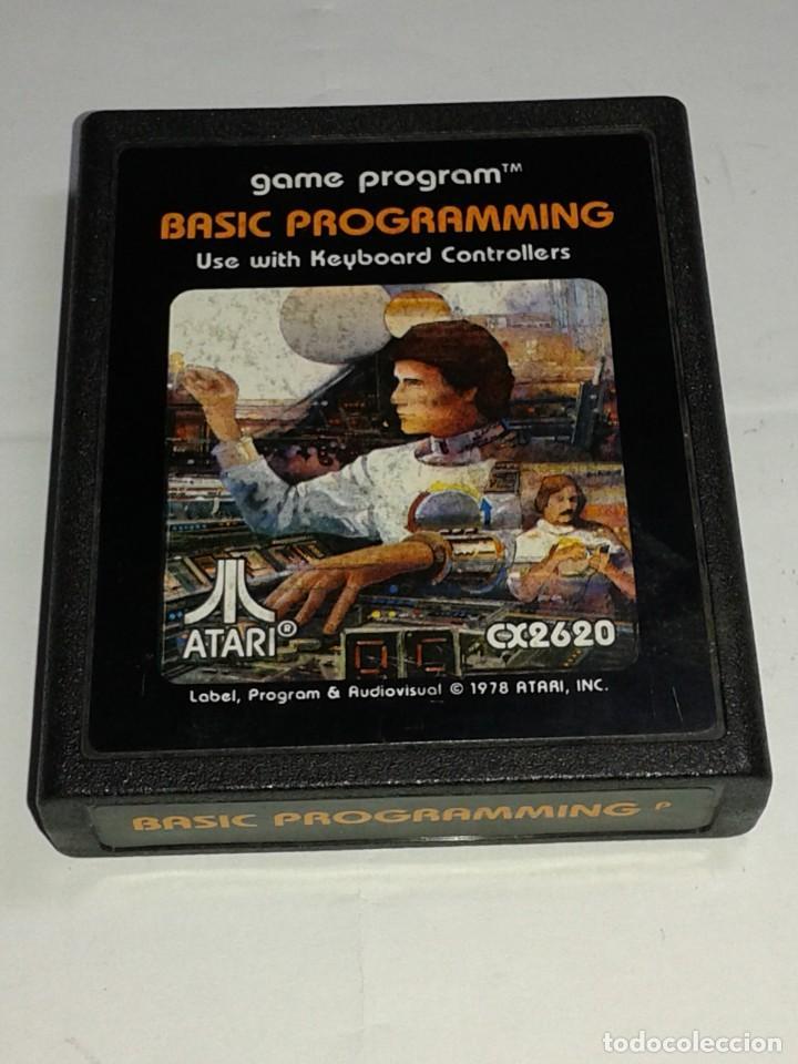 CARTUCHO ORIGINAL ATARI - BASIC PROGRAMMING - CON LIBRILLO MANUAL (Juguetes - Videojuegos y Consolas - Atari)