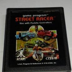 Videojuegos y Consolas: CARTUCHO ORIGINAL ATARI - STREET RACER - CON LIBRILLO. Lote 223850595