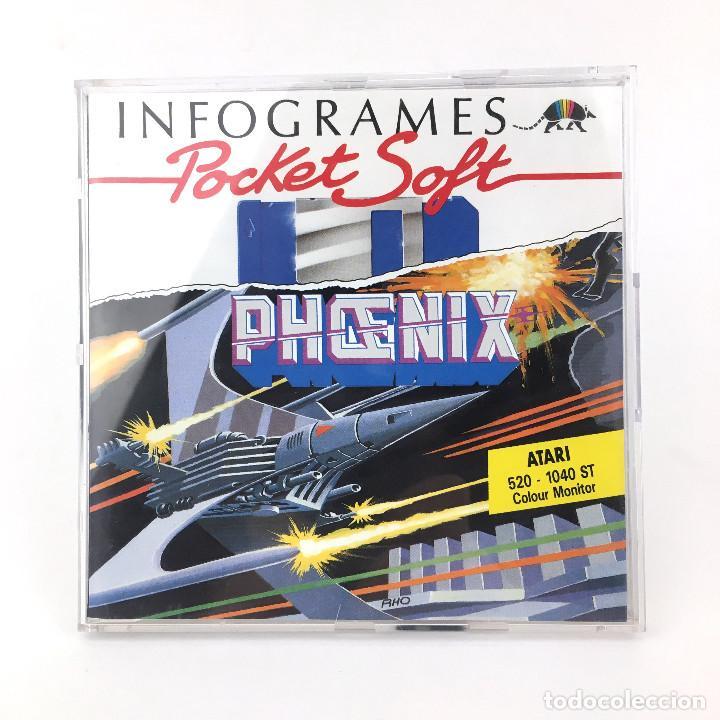 PHOENIX AY 21 SPACE INFOGRAMES POCKET SOFT 1989 RETRO MARCIANITOS 520 1040 DISKETTE 3½ DISK ATARI ST (Juguetes - Videojuegos y Consolas - Atari)