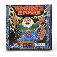 Videojuegos y Consolas: VAMPIRE´S EMPIRE DRO SOFT ESPAÑA MAGIC BYTES 1988 JUEGO RETRO DE MAGIA HECHIZO DISKETTE ATARI ST MBE. Lote 228682985