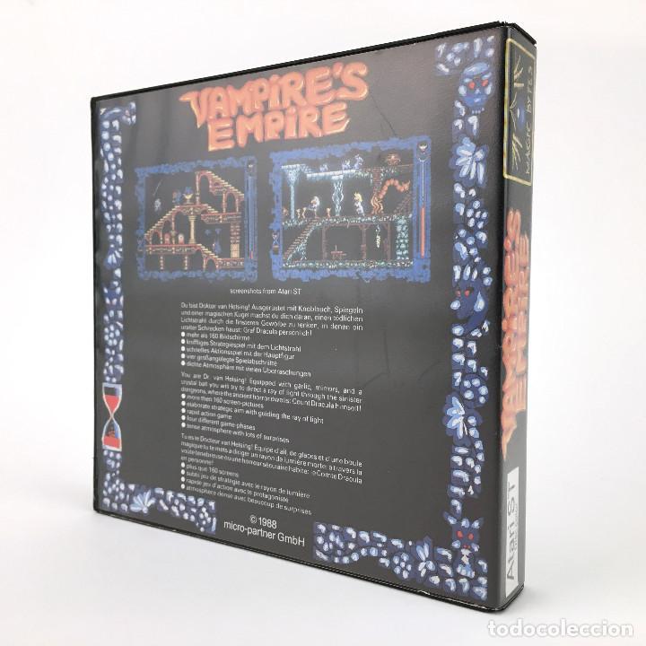 Videojuegos y Consolas: VAMPIRE´S EMPIRE DRO SOFT ESPAÑA MAGIC BYTES 1988 JUEGO RETRO DE MAGIA HECHIZO DISKETTE ATARI ST mbe - Foto 3 - 228682985