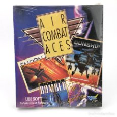 Videojuegos y Consolas: AIR COMBAT ACES PRECINTADO FALCON FIGHTER BOMBER GUNSHIP DRO SOFT UBI SIMULADOR DISKETTE 3½ ATARI ST. Lote 229779785