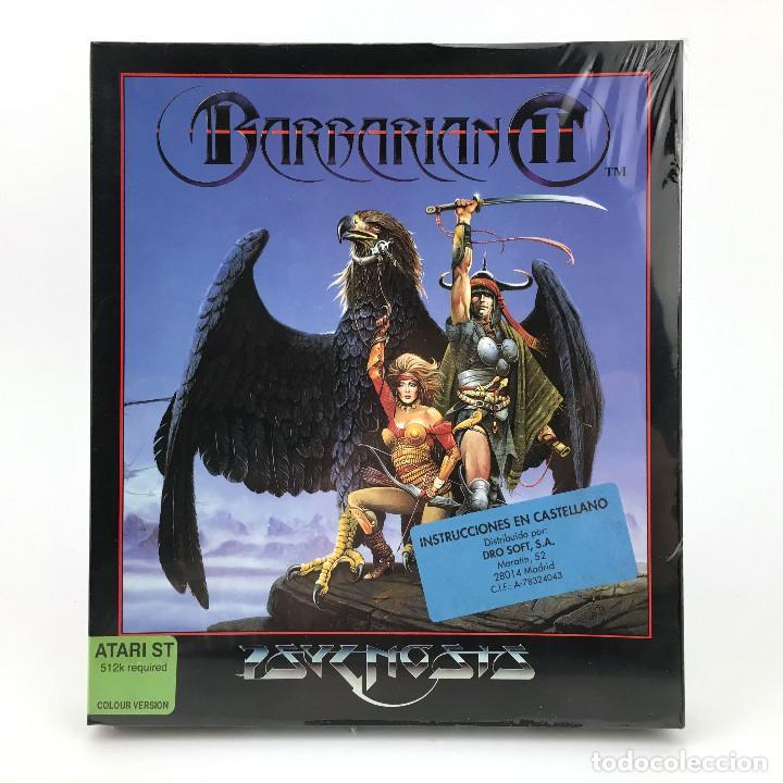 BARBARIAN 2 PRECINTADO * DRO SOFT ESPAÑA PSYGNOSIS 1991 CAJA GRANDE HEGOR CONAN DISKETTE 3½ ATARI ST (Juguetes - Videojuegos y Consolas - Atari)