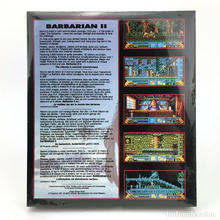 Videojuegos y Consolas: BARBARIAN 2 Precintado * DRO SOFT ESPAÑA PSYGNOSIS 1991 CAJA GRANDE HEGOR CONAN DISKETTE 3½ ATARI ST - Foto 2 - 229780140