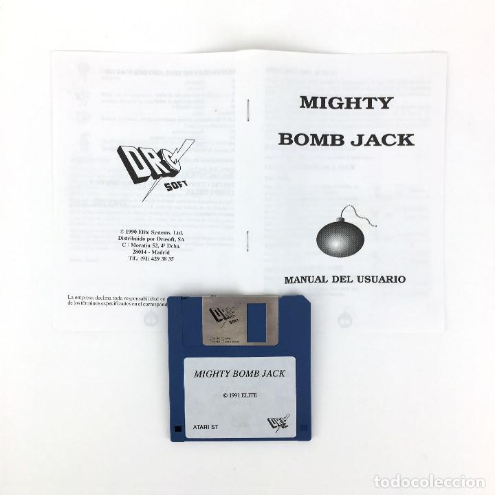 Videojuegos y Consolas: MIGHTY BOMBJACK - DRO SOFT ESPAÑA / ELITE / TECMO 1991 JUEGO CAJA GRANDE DISK DISKETTE 3½ ATARI ST + - Foto 2 - 229918135
