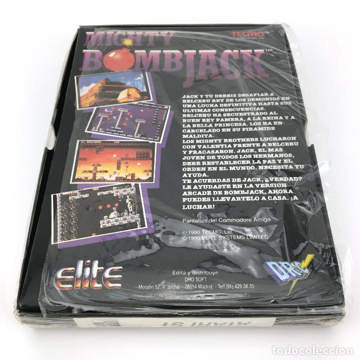 Videojuegos y Consolas: MIGHTY BOMBJACK - DRO SOFT ESPAÑA / ELITE / TECMO 1991 JUEGO CAJA GRANDE DISK DISKETTE 3½ ATARI ST + - Foto 3 - 229918135