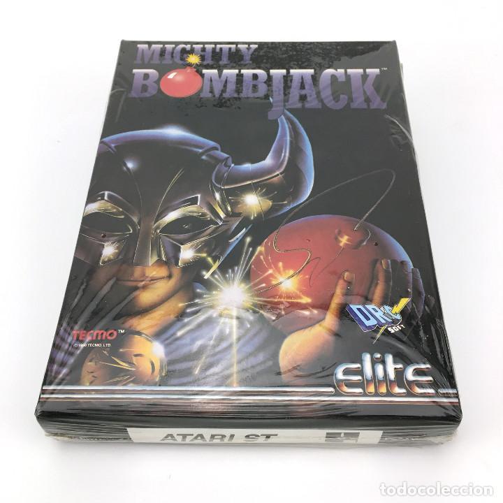 Videojuegos y Consolas: MIGHTY BOMBJACK - DRO SOFT ESPAÑA / ELITE / TECMO 1991 JUEGO CAJA GRANDE DISK DISKETTE 3½ ATARI ST + - Foto 4 - 229918135