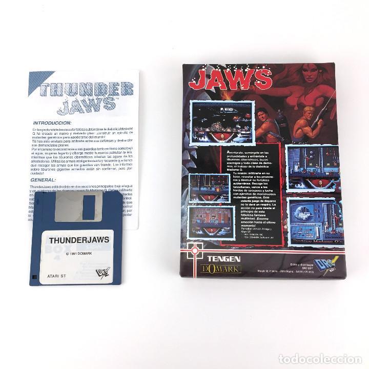 Videojuegos y Consolas: THUNDER JAWS - DRO SOFT ESPAÑA / DOMARK 1991 MUTANTS JUEGO CAJA GRANDE MBE DISK DISKETTE 3½ ATARI ST - Foto 3 - 229918315