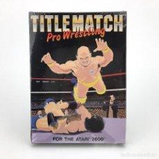 Jeux Vidéo et Consoles: TITLE MATCH PRO WRESTLING * PRECINTADO ABSOLUTE ENTERTAINMENT 1987 ATARI 2600 CARTUCHO NUEVO EN CAJA. Lote 232080820