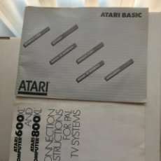 Videojuegos y Consolas: ATARI BASIC MANUAL DE REFERENCIA Y COMPUTER 600 800 XL CONNECTION INSTRUCTIONS GUIA KREATEN. Lote 236645390