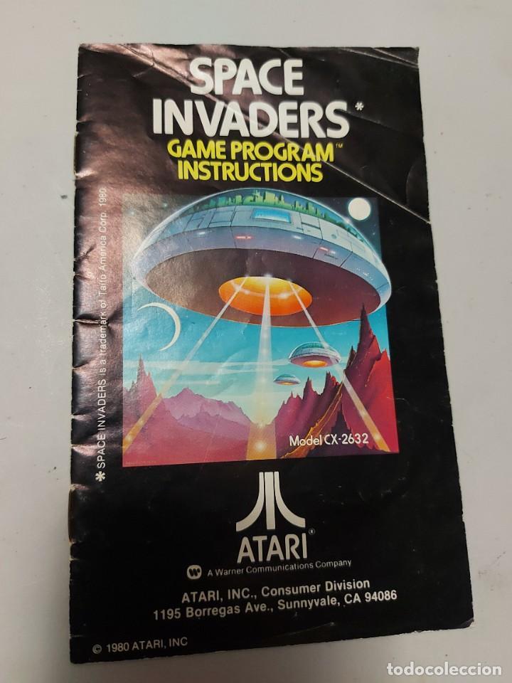 INSTRUCCIONES VIDEOJUEGO ATARI SPACE INVADERS (Juguetes - Videojuegos y Consolas - Atari)