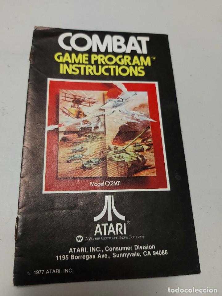 INSTRUCCIONES VIDEOJUEGO ATARI COMBAT (Juguetes - Videojuegos y Consolas - Atari)