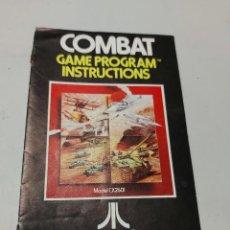Videojuegos y Consolas: INSTRUCCIONES VIDEOJUEGO ATARI COMBAT. Lote 240116365