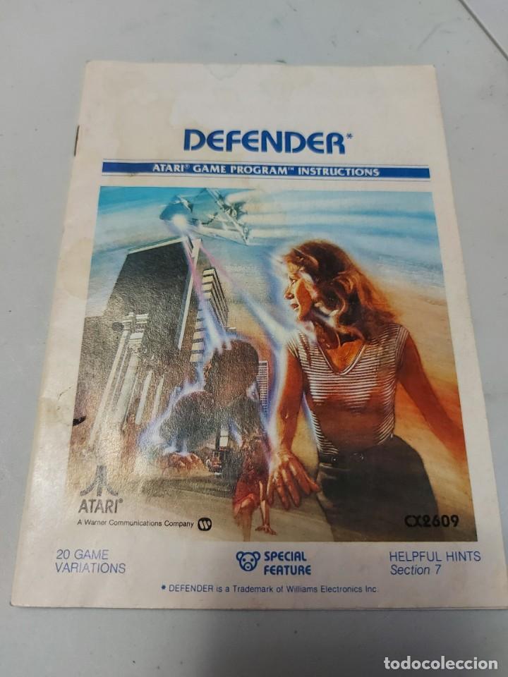 INSTRUCCIONES VIDEOJUEGO ATARI DEFENDER (Juguetes - Videojuegos y Consolas - Atari)