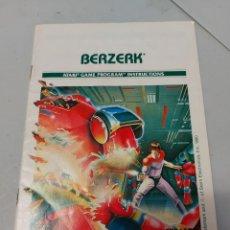 Videojuegos y Consolas: INSTRUCCIONES VIDEOJUEGO ATARI BERZERK. Lote 240118070