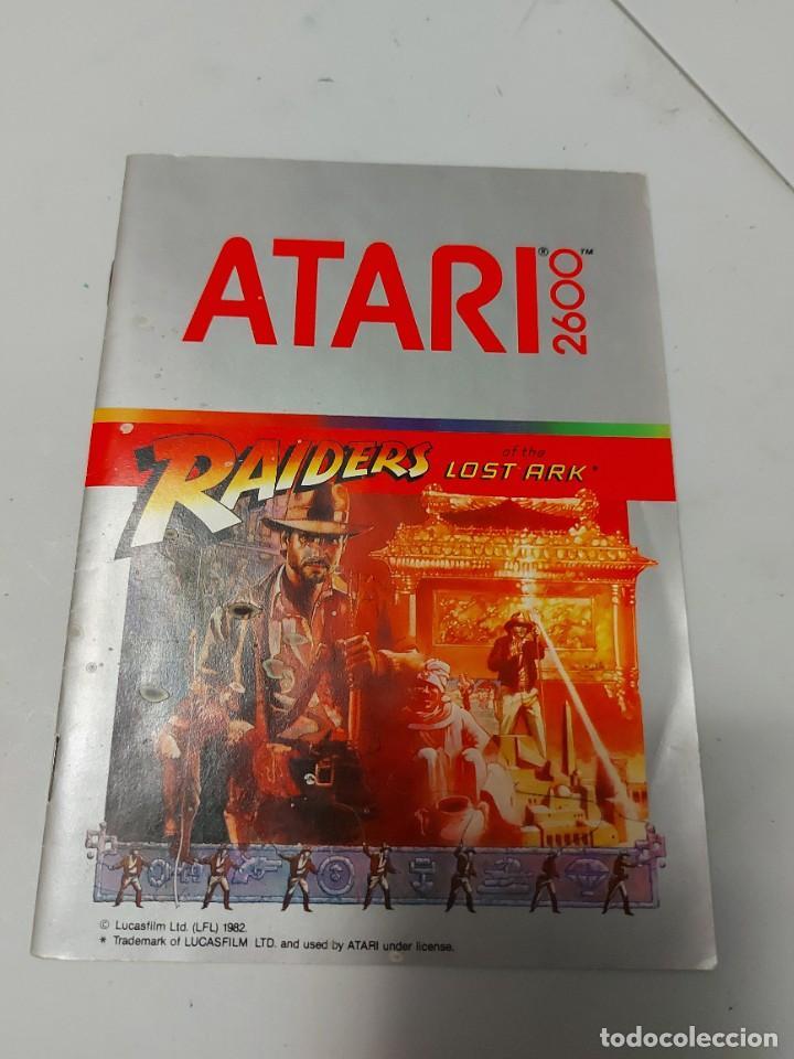 INSTRUCCIONES VIDEOJUEGO ATARI RAIDERS INDIANA JONES (Juguetes - Videojuegos y Consolas - Atari)