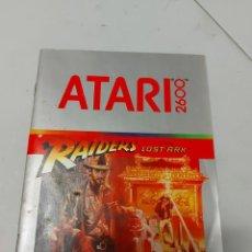 Videojuegos y Consolas: INSTRUCCIONES VIDEOJUEGO ATARI RAIDERS INDIANA JONES. Lote 240118290