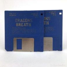 Videojuegos y Consolas: DRAGONS BREATH ESPAÑOL. PALACE SOFTWARE 1990 ESTRATEGIA GUERRA JUEGO RETRO DISK ATARI ST DISKETTE 3½. Lote 243265780
