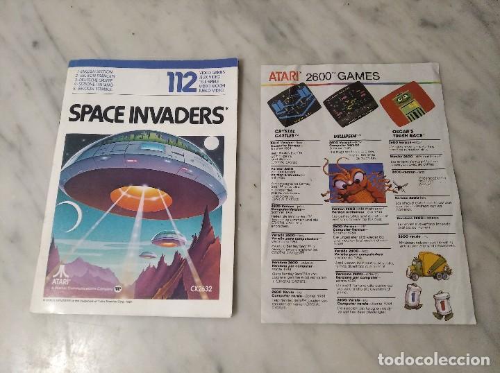 Videojuegos y Consolas: MANUAL INSTRUCCIONES SPACE INVADERS - ATARI - AÑO 1980 + FOLLETO JUEGOS ATARI 2600 - Foto 8 - 243342645